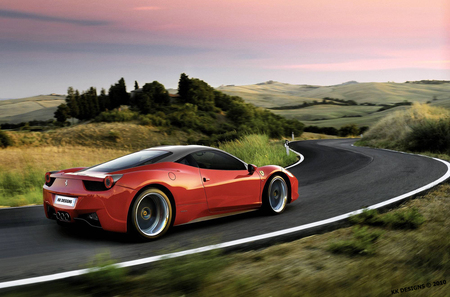 Ferrari 458 Italia - by kk, ferrari italia, ferrari wallpaper, virtual tuning, ferrari 458 italia, speed, kk designs, red ferrari, ferrari, veilside, ferrari tuning, deep rims on ferrari, ferrari rims