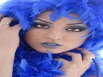 Blue feder