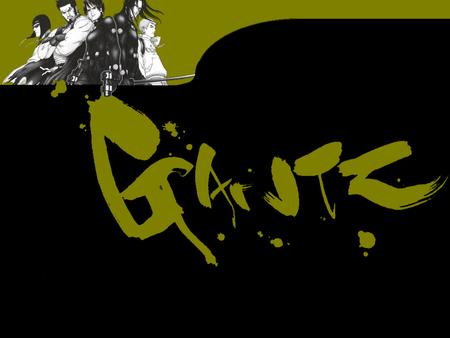 Gantz - gun, dead, extraterrestrial, gantz, green, katana, black