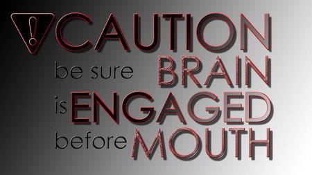Caution - teaser, brain, caution, humor