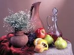 Pottery And Fruits