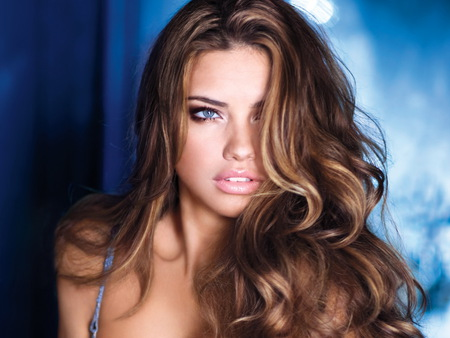Adriana-Lima - face, hair, lady, lima, eyes, models
