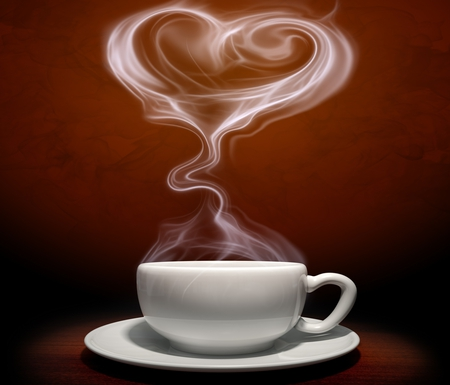 Coffee Time - photography, white, nice, cup of coffee, heart, beauty, beautiful, lovely, coffee, cup, pretty