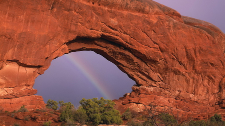 Bifrost - nature, rock formation, rainbow, arch