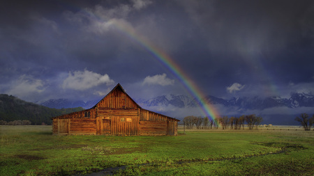 rainbow - rainbow, nature, clouds, sky