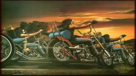 Lets Ride - ride, cross country, chopper, motorcycle, group riding