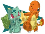 Charmasaur. The cute Charmander and Bulbasaur