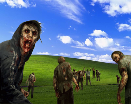 Windows XP Zombies - microsoft, windows xp, clouds, xp, zombies, windows
