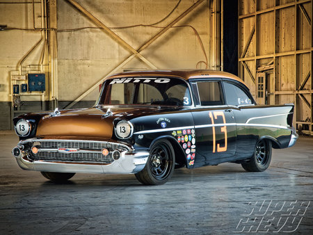 57 Racer - gm, chevy, racer, bowtie