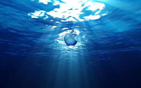 water apple - apple, technology, water, blue