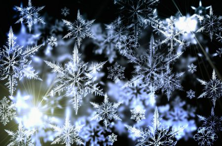 Snowflakes - snow, winter, snowflakes, nice, abstract, 3d