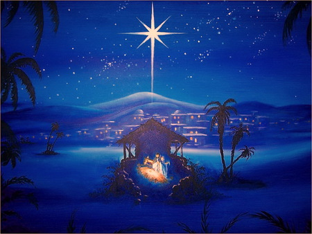 The First Christmas.The First Christmas 3d And Cg Abstract Background