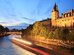 Ship cruise on Seine River