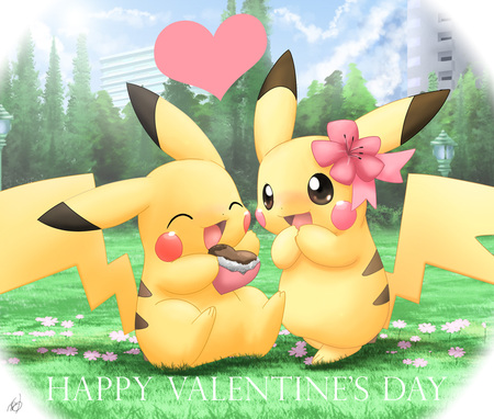 Pikachu love - kawaii, pikachu, pokemon, chibi