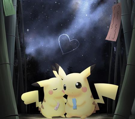 Pikachu love - kawaii, pikachu, pokemon, chibi