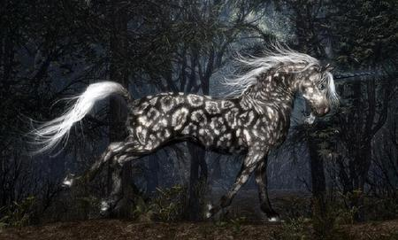 spotted_unicorn - spotted, 3d, unicorn, horse, other