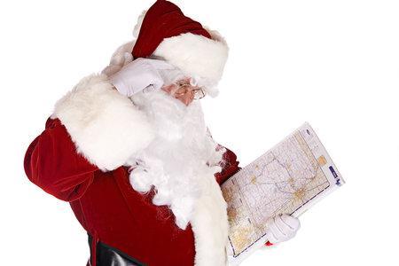 Santa Delivery Route - holidays, xmas, christmas, santa