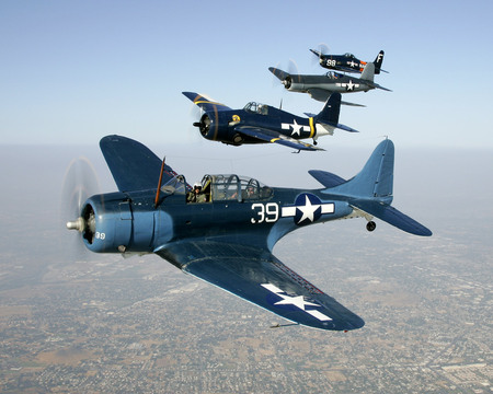 US Antique Warplanes - bearcat, war, fighter, ww2, grumman, usaf, wildcat, vought, corsair, douglas, bomber, dauntless, navy