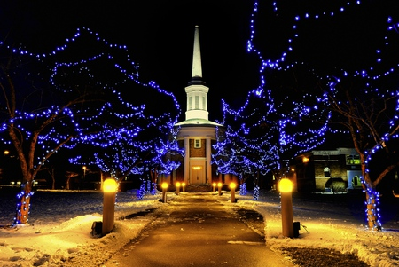 christmas lights religious architecture background wallpapers on desktop nexus image 537189