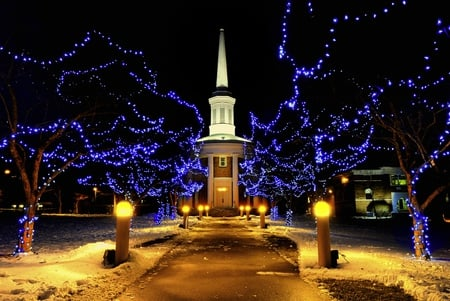 Christmas Lights - Christmas Lights - Religious & Architecture Background Wallpapers On