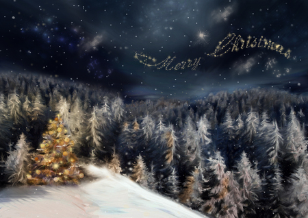 Merry Christmas - Forests & Nature Background Wallpapers on Desktop ...