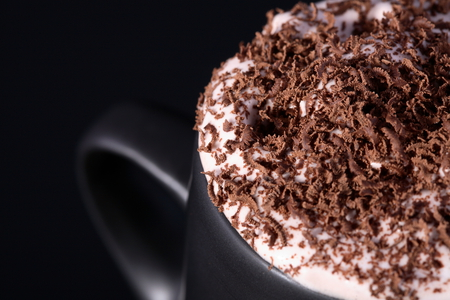 Cappuccino - drink, chocolate, photography, nice, beautiful, cool, cream, coffee, delicious, cappuccino, black, photo