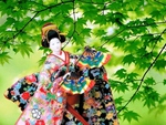 Japanese dolls and Tree