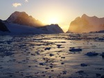 Sunset in Antartica
