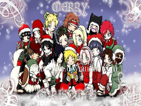 Merry Christmas Naruto Naruto Anime Background Wallpapers On