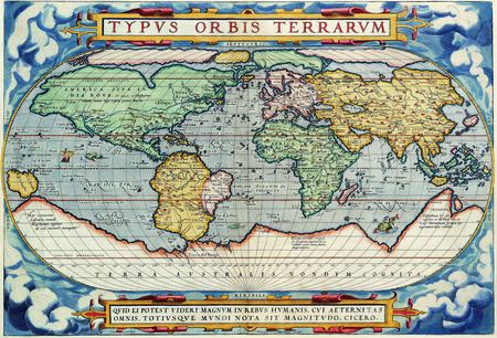 Map From 1587 Hi-Res - map, world, old, hires