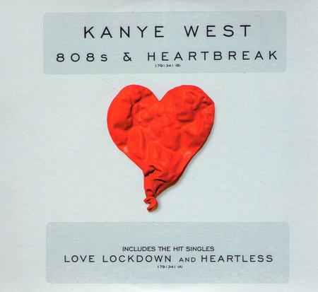 Kanye West 808's & Heartbreaks - male, rappers, rap, album cover, hip hop