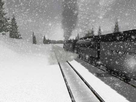 hiver - flocon, train, froid, neige