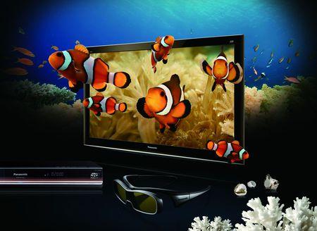 3-D  tv_Panasonic - panasonic, fish, tv, 3-d