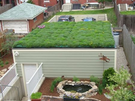 The Salisbury Residence - 2009 greenroofs calendar, jeff and christine salisbury, kelly luckett, green roofs, green roof blocks