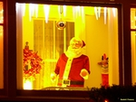 Santa Claus in the window