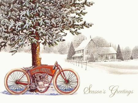 Seasons greetings harley davidson motorcycles background seasons greetings m4hsunfo