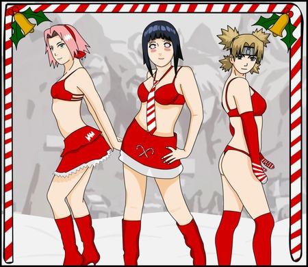 christmas shinobi pretty sakura naruto christmas naruto shippuden santa - Naruto Christmas