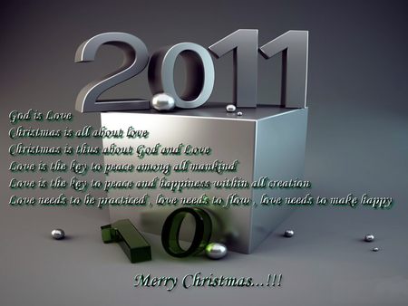 Happy New Year - merry christmas, wish, new, 2011, year