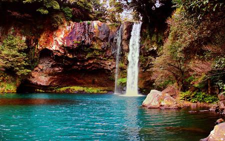 Jeju island waterfall - jeju, nature, korea, waterfall