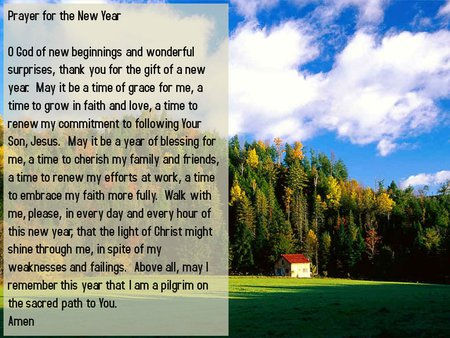 Prayer for the new year - Collages & Abstract Background Wallpapers ...