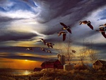 Terry Redlin painting - Silent sunset