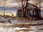 Broken convey, painting by Terry Redlin