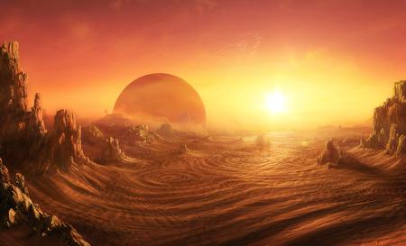 SARA-MATTE - sunset, desert, rock, planet