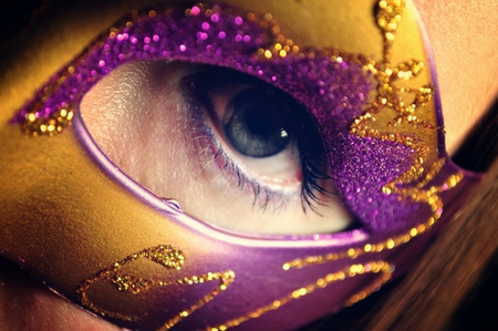 look at me - mysterious, purple, eye, golden