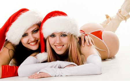 Christmas Babes.Christmas Babes Models Female People Background