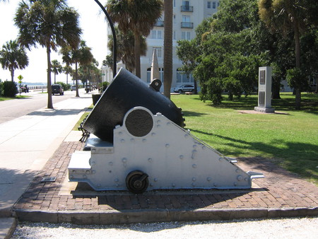 Cannon-Charleston, S.C. - american history, cannon, charleston, battery