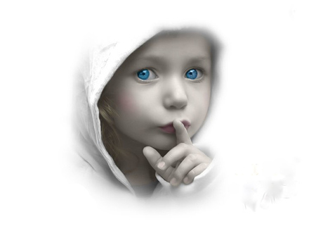 Shhh..... - angelic, abstract, child, quiet