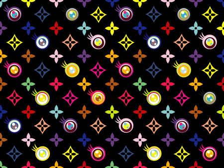 Louis Vuitton Black Eye - - abstract, fashion, louis vuitton, pattern, black, black eye, clothing brand