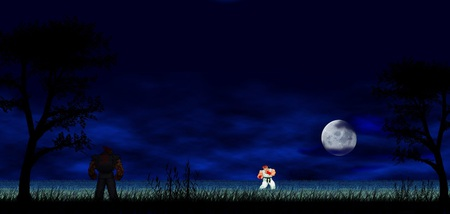 Ryu Vs Akuma Street Fighter Video Games Background