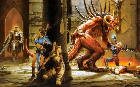 Fantasy - fantasy, warriors, artt, creature